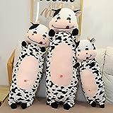 RJGLKS 70-110cm tamaño Gigante de Dibujos Animados de Vaca lechera Almohada de Peluche de Animales Lindos Juguetes de Peluche para niños adorables niñas Regalo 110cm