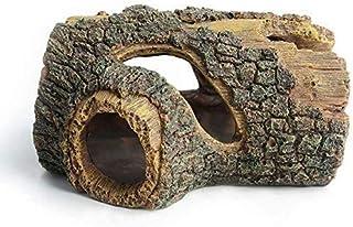 Hygger Betta Log Resin Hollow Tree Trunk Ornament, Betta Fish Accessories, Aquarium Decorations Wood House Small and Mediu...