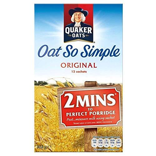 Quaker Oat So Simple Original 12 x 27g - Vollkorn Haferflocken
