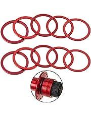 10 Espaciadores de Cassette de Bicicleta de 7 8 9 10 11 Velocidad Arandela de Volante de Aleación de Aluminio Anodizado 1 mm 1,5 mm 2 mm 2,5 mm 3 mm Arandela de Pedalier (Rojo)