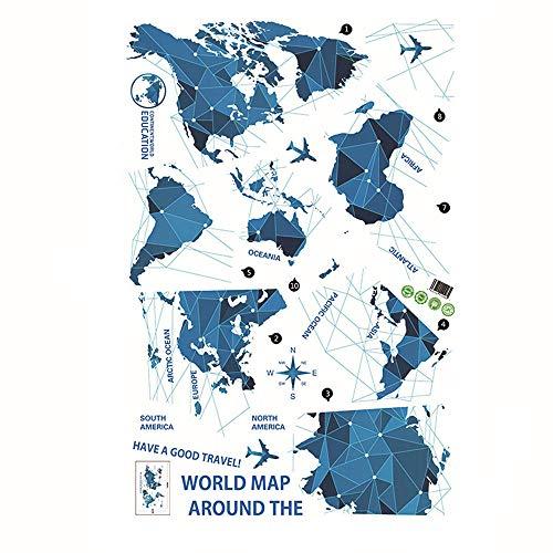 WORLD MAP Stickers muraux Chambre à coucher Living Chambres d'enfants Décor