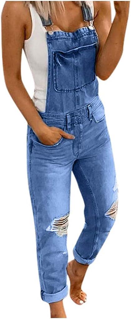 Women's Denim Max 51% OFF Atlanta Mall Jumpsuits Printed Overalls Size Plus Wide Loos Leg