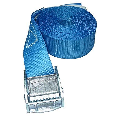 ZurrTec 10 x 250 kg daN 1m Profi Spanngurte mit Klemmschloss 25mm Spannriemen Befestigungsriemen DIN EN 12195-2 (Blau)