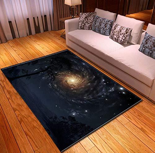 Teppiche Nordic Kinder Nacht Teppiche 3D Universum Galaxy Space Print Home Decor Esstisch Mat 120cmx170cm