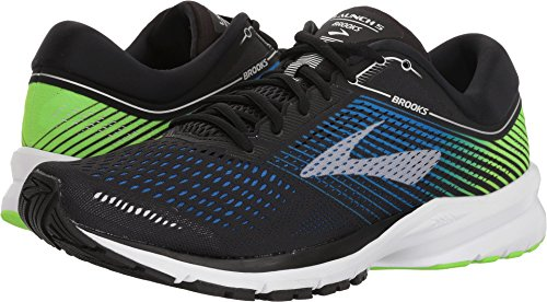 Brooks Mens Launch 5 - Black/Blue/Green - D - 9.5
