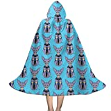 Sphynx Cat Bills Beerus Kids Hooded Cape Cloak for Magic Halloween Christmas Party Cosplay Dress Costume Cape Small