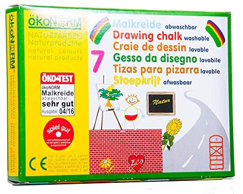 Unbekannt ökoNORM Zeichenkreide, 7 Farben Pack, variiert, One Size