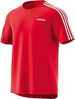 Adidas Men's Design 2 Move 3-Stripes T-Shirt, Red (Active Red), 2X-Large