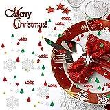 GWHOLE 100g Metallic Konfetti Weihnachten Tischdeko Streudeko DIY Handwerk Basteln - 4