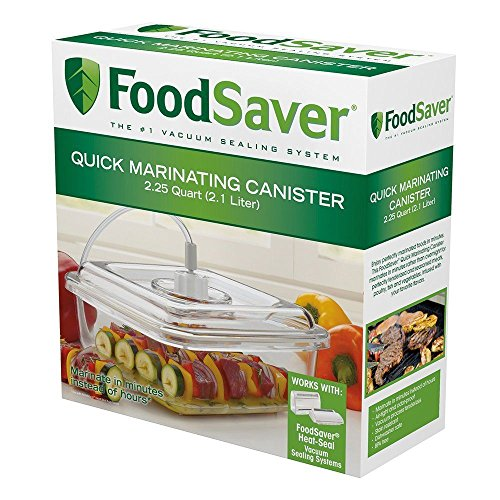 FoodSaver Quick MARINATOR 2.25 QT Square Canister New