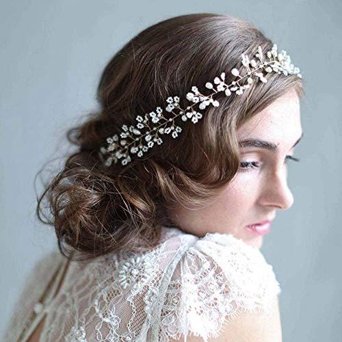 Strass Perle Bijoux Femmes Mariage Bande de Cheveux /à la Main d/écor qiuxiaoaa Bandeau de mari/ée