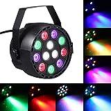 Lixada AC 90-240V 12 LED Par Lights 8 canales RGBW Mezcla de color Iluminación de escenario con DMX Strobe y sonido Modo activo para fiesta de discoteca Christmas Wall Wash