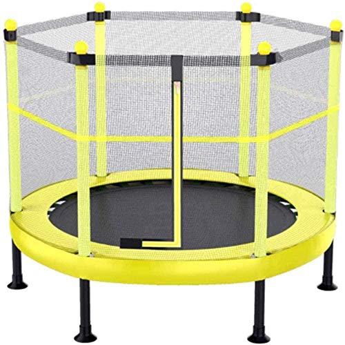 Trampoline voor binnen- en buitenspeelgoed met veiligheidsbehuizingsnet en 360 ° gevoerde handgreep Trampolines voor kinderen 50-300 kg 60 inch (upgrade)
