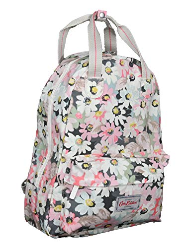 Cath Kidston Backpack Rucksack Painted Pansies in Fresh Green Oilcloth