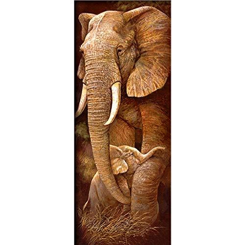 HLLR (1 Juego Cubo de Rubik con Bordado de Diamantes 5D (25 * 55 cm) Elefante de Diamantes Completo