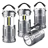 LED Camping Flashlight Lanterns Combo- Moobibear 2-In-1 Portable Tac Lantern Handheld Flashlights,...