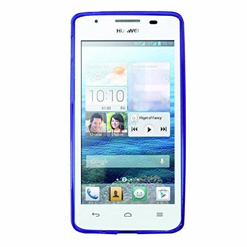 Phonix Gel Protection Plus Hülle mit Bildschirmschutzfolie für Huawei Ascend G525 violett