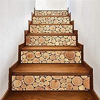 ウォールステッカー&壁画 ツリーリング木目調階段ステッカーホームウォールステッカー装飾ステッカーステップ装飾ウォールステッカー