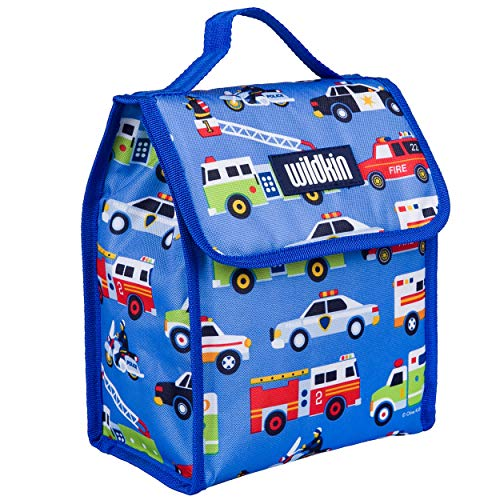 Wildkin Kids Insulated Lunch Bag for Boys and Girls, Lunch Bags is Ideal Size for Packing Hot or Cold Snacks for School and Travel, Mom's Choice Award Winner, BPA-Free, Olive Kids (Heroes)