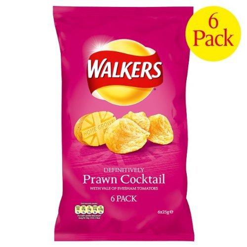 Walkers Crisps Prawn Cocktail 6x6x25g