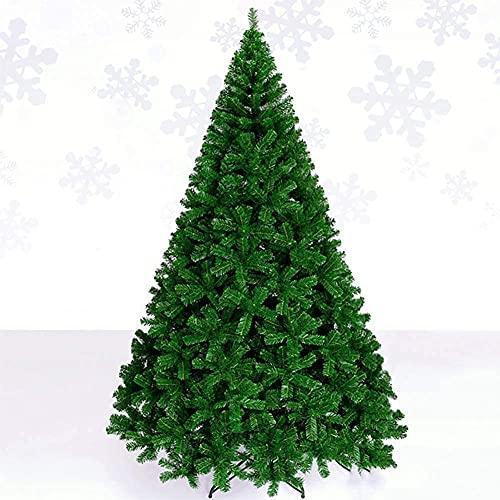 ZYDSN Árbol de Navidad artificial plegable de metal con 400 puntas de ramas de abeto premium con bisagras, árbol de Navidad