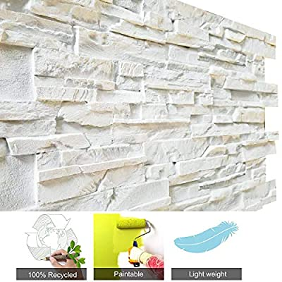 3D Wall Panels FRP Faux Stone Wallpanel for Tv Walls, Sofa Background, Wall Art Decorative Extrior and Interior Wall Tiles