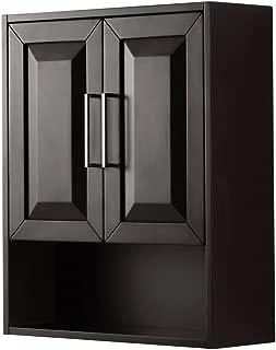 Wyndham Collection Daria Wall-Mounted Storage Cabinet in Dark Espresso