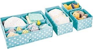 mDesign boite de rangement plastique (lot de 4) – bac de rangement à compartiments pour chambre d'enfant – rangement tiroi...