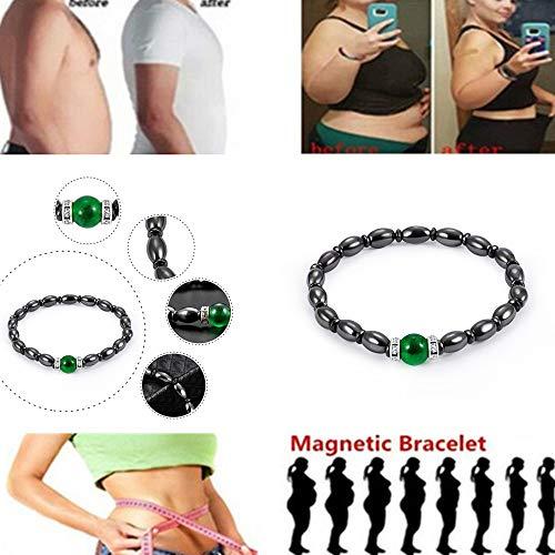 Armband Pandora Armband Magnetische Hematiet Ronde Kralen Stretch Armband voor Mannen en Vrouwen Gewichtsverlies Anti-Vermoeidheid Gezondheid Zorg Energie Armband Sieraden (3st) Zwart