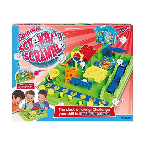 Tomy- Autre Tricky Circuit T7070, d'action d'adresse et de Rapidité, Jeu de Billes Multicolore pour Enfant de 5 Ans, Norme