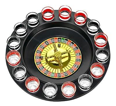 Fairly Odd Novelties Shot Glass Roulette Complete Set drinking game, 16PCS, Red/Black