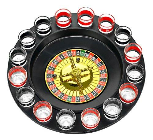 Fairly Odd Novelties FON-10046 Shot Glass Roulette Complete Set drinking game, 16PCS,...