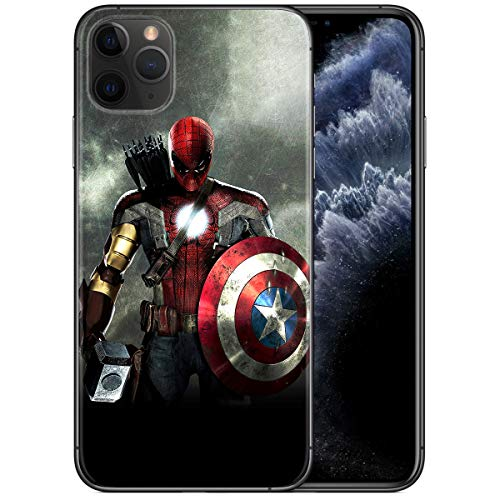 iPhone 11 Pro Max Case 6.5', Comics iPhone Case Plastic Full Body Protection Cover for iPhone 11 Pro Max (Avengers-Mix)
