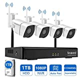 Security Camera System Wireless,Firstrend 8CH 1080P NVR Security Camera System with 4PCS 960P IP Security Camera Outdoor Indoor Surveillance DVR Kits 65FT Night Vision 1TB Hard Drive Installed
