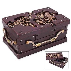 K EXCLUSIVE Rectangle Steampunk Trinket Box