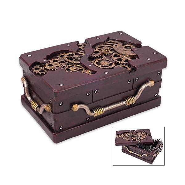 K EXCLUSIVE Rectangle Steampunk Trinket Box 3