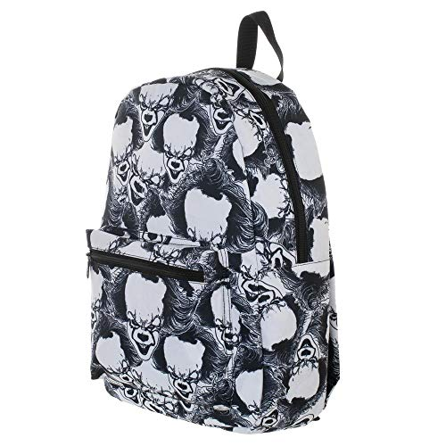 Pennywise IT Horror Movie All Over Print Black & White Backpack