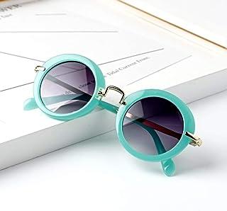 YZCX - Gafas de Sol Redondas Niños Gafas de Montura Retro Lindas Gafas de Sol para niños Gafas de niña niño Uv400