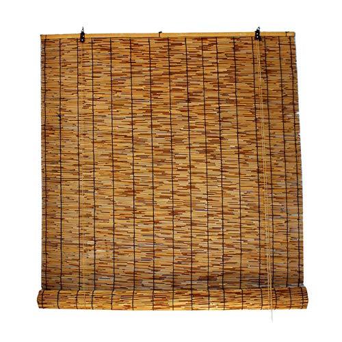 L-DREAM Estores De Bambú Persiana Enrollable, para Interiores Y Exteriores Ventana, Persianas De Caña Tejidas A Mano, Sombreado 60%, Cortina De Bambu Balcón Translúcido