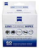 Zeiss Pre-Moistened Lens Cloths Wipes, 60ct