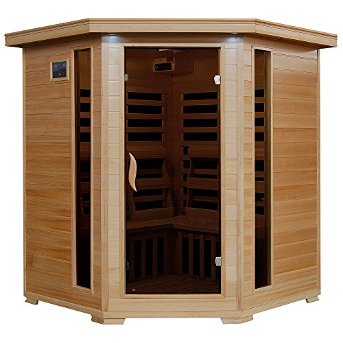 Radiant Saunas BSA2420 4 Person Hemlock Carbon Infrared Sauna