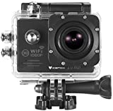 Action Cam, icefox ® Wasserdichte Wi-Fi Action-Kamera, 12 MP, 1080 p, HD 2.0' LCD, Taucherhelm, Sportwagen-Kamera mit kostenlosem Accessories-Kit (schwarz)