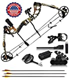2020 Compound Bow and Arrow for Adults and Teens - Hunting Bow with Gordon Limbs Made in USA- Fully...