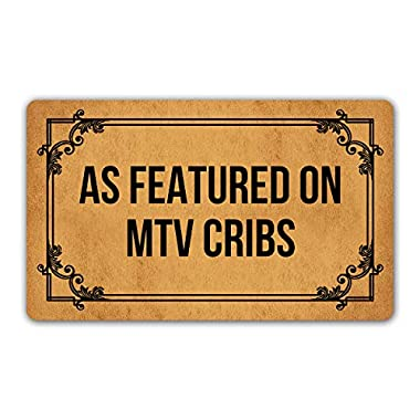 DoubleJun Funny Doormat As Featured On MTV Cribs Entrance Mat Floor Rug Indoor/Outdoor/Front Door Mats Home Decor Machine Washable Rubber Non Slip Backing 29.5 (W) X 17.7 (L)