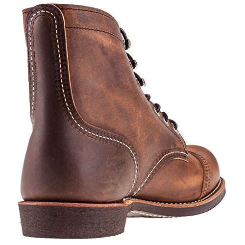 Red Wing Heritage Men's Iron Ranger Work Boot, Copper Rough and Tough, 11.5 D US