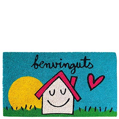Laroom Felpudo casa & Sol benvinguts, Multicolor, 40x70xH1,8cm