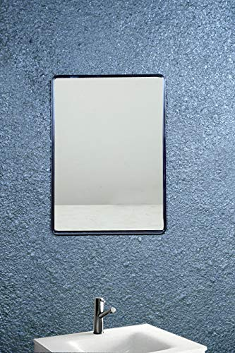 Reflectionz Frameless Rectangle Decorative Mirror   Mirror Glass for Wall   Mirror for Bathrooms   Mirror in Home   Mirror Decor   Mirror Size : (10 X 14 Inch)