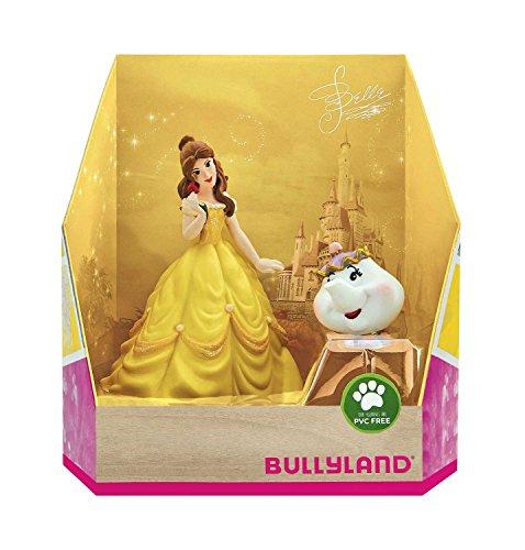 Bullyland 13436 - Spielfigurenset, Walt Disney Belle - Belle und Madame Pottine, liebevoll handbemalte Figuren, PVC-frei, tolles Geschenk für Jungen und Mädchen zum fantasievollen Spielen