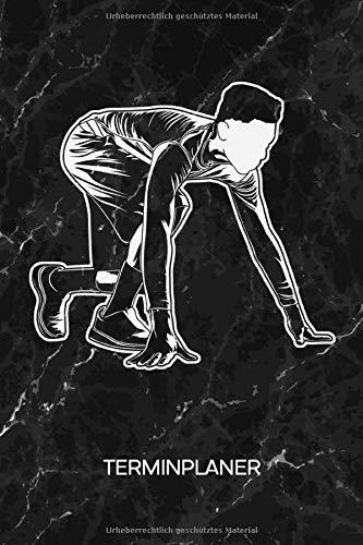 TERMINPLANER: Läufer Kalender Mo. bis So. - Laufsport Terminkalender - Leichtathletik Wochenplaner Marathon Taschenkalender für To-Do Liste & Termine - Sprinter Laufsport Motiv