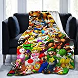 Super Mario Throw Kids Blanket Super Soft Ultra Comfort Blanket for Couch Bed Travel Four Seasons Blanket 50'x40'